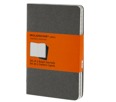 Pocket,Sized,Ruled,Cahier,Journals,Pebble,Grey,moleskine, pocket, sized, ruled, cahier, journals, pebble, grey, father's day, father, fathers, dad, dads, daddy, gifts, gift, idea, ideas, international, hong kong