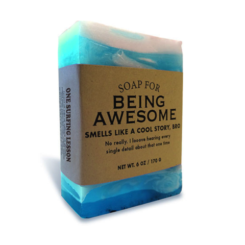 Being,Awesome,Soap,whiskey river co., handmade, soap, funny, hilarious, bar, father's day, father, fathers, dad, dads, daddy, international, hong kong