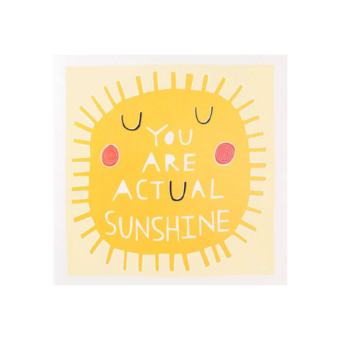 You,Are,Actual,Sunshine,by,Taylor,Swift,papyrus, taylor, swift, handmade, greeting, card, you are, actual, sunshine, birthday, international, hong kong