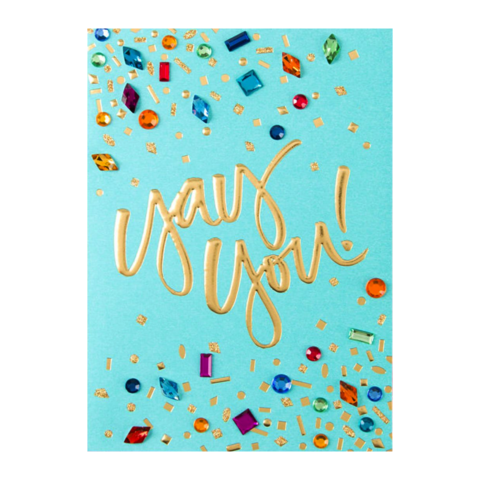 Yay,You,by,Taylor,Swift,papyrus, taylor, swift, handmade, greeting, card, international, yay, you, birthday, confetti, gems, hong kong