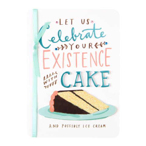 Celebrate,Your,Existence,papyrus, emily mcdowell, studio, handmade, greeting card, birthday, cake, dessert, international, hong kong
