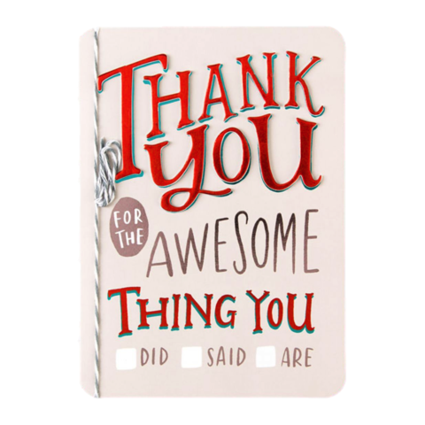Thank,You,for,the,Awesome,Thing,You...,papyrus, emily mcdowell, studio, handmade, greeting, card, thank you, gratitude, international, hong kong