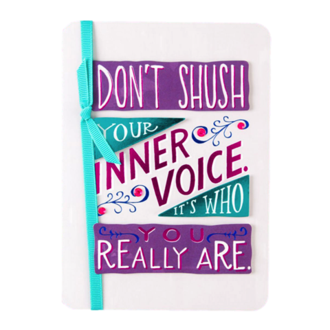 Don't,Shush,Your,Inner,Voice,papyrus, emily mcdowell, studio, birthday, handmade, greeting, card, international, hong kong