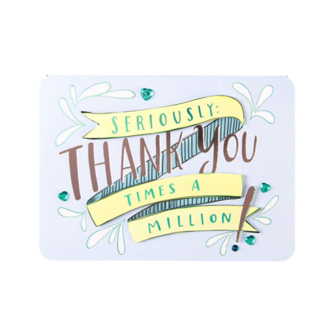 Thanks,a,Million,papyrus, emily mcdowell, studio, handmade, greeting, card, thank you, gratitude, international, hong kong