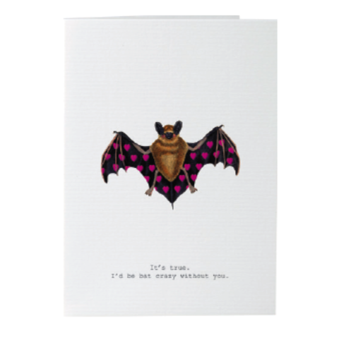 Bat,Crazy,Valentine's,Day,Card,tokyomilk, margot elena, burwell, valentine's day, handmade, card