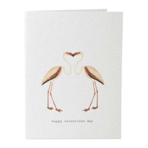 Flamingo,Valentine,Card,tokyomilk, margot elena, burwell industries, valentine's day, card
