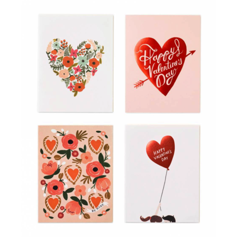 Valentine's,Day,Assorted,Cards,(Set,of,8),rifle paper co, valentine's, valentine, day, assorted, box, set, stationery, handmade, greeting, card, cards, boxed, international, hong kong