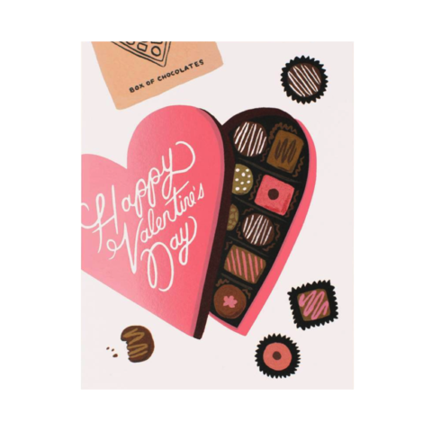 Valentine's,Day,Chocolates,Card,rifle paper co, valentine's, valentine, day, love, romance, chocolates, sweets, handmade, greeting, card, international, hong kong