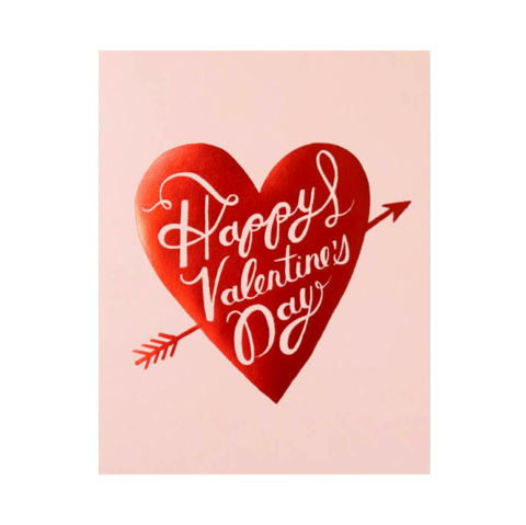 Arrow,in,Heart,Valentine's,Day,Card,rifle paper co, arrow, heart, valentine's, valentine, day, love, romance, handmade, greeting, card, international, hong kong