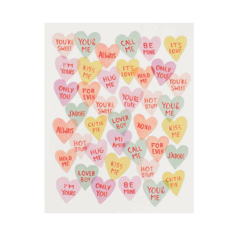 Valentine,Sweetheart,Valentine's,Day,Card,rifle paper co, valentine, sweetheart, sweets, candy, romance, love, handmade, greeting, card, valentine's, day, international, hong kong