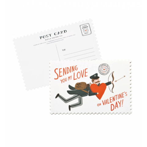 Sending,You,My,Love,Postcard,(Set,of,10),rifle paper co, valentine's, valentine, day, sending, you, my, love, romance, postcard, postcards, set, of, ten, 10, stationery, boxed, box, handmade, greeting, card, international, hong kong