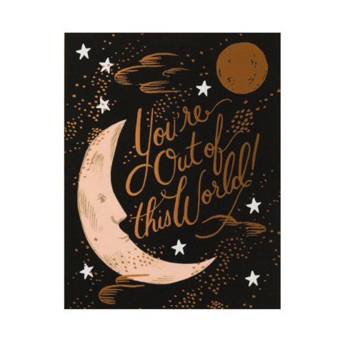 You're,Out,Of,This,World,rifle paper co, you're, out, of, this, world, moon, youre, handmade, greeting, card, romance, love, international, hong kong