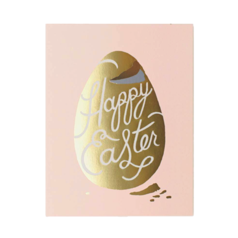 Candy,Egg,rifle paper co, easter, candy, egg, gold, foil, handmade, greeting, card