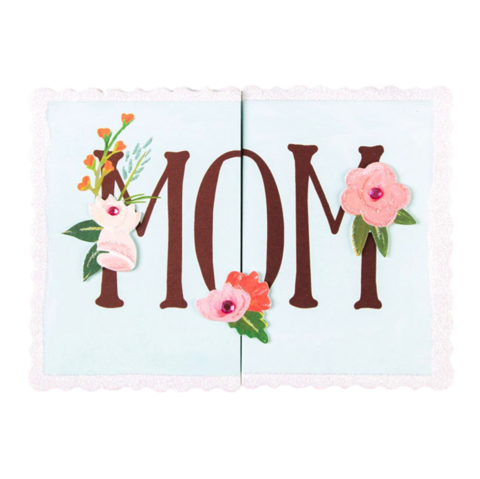 Fold,Out,Mom,papyrus, handmade, greeting, card, mother's, day, mother, mom, mum, fold out, sweet, glitter, beautiful, flower, floral, international, hong kong