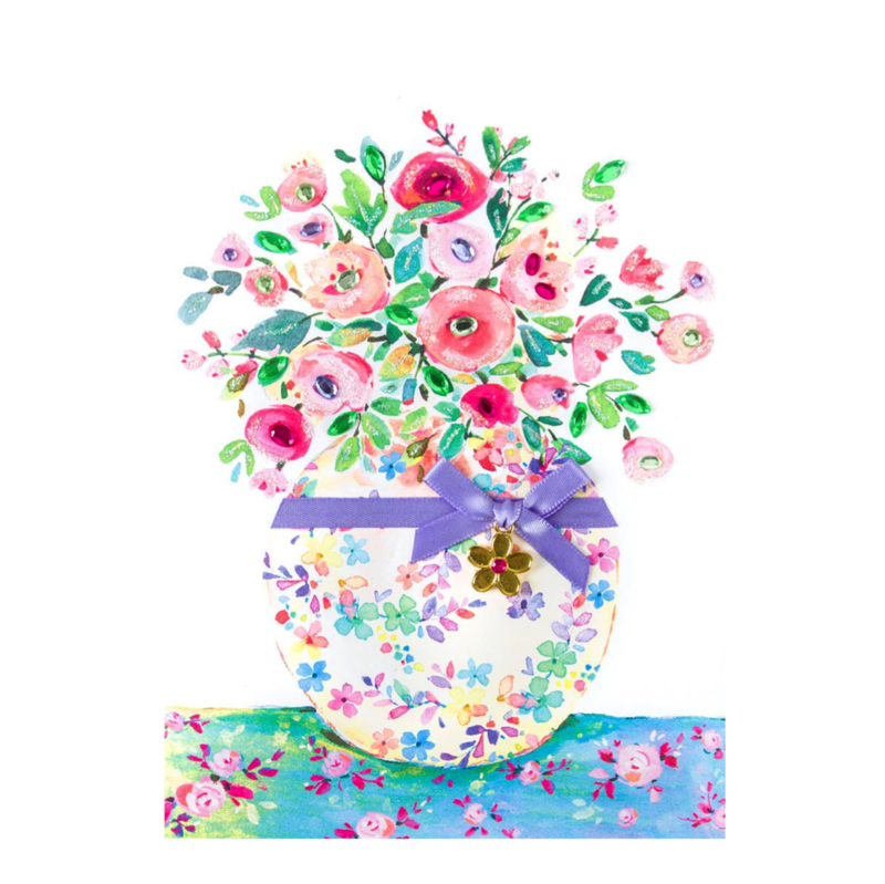 Floral Vase With Charm - product images