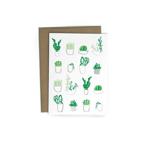 Succulents,Blank,Card,succulents, cactus, cacti, plants, plant, redcruiser, blank, fine art, card, handmade, greeting