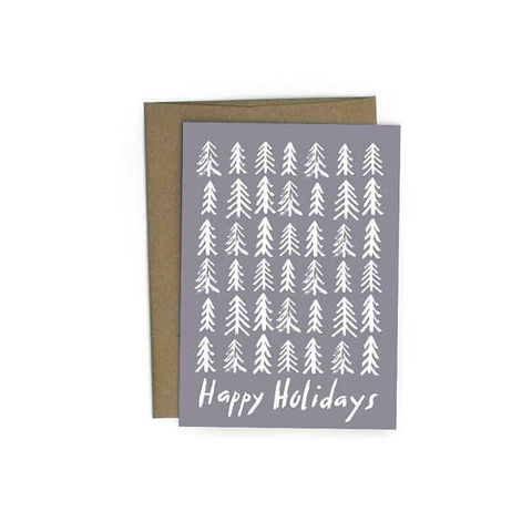 Winter,Trees,Happy,Holidays,Card,winter, trees, print, redcruiser, handmade, greeting, card, christmas, holiday, holidays