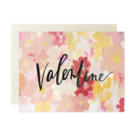 Valentine,Cursive,Watercolor,Valentine's,Day,Card,our heiday, valentine, cursive, watercolor, valentine's day, valentines, day, floral, flowers, black, art, handmade, greeting, card