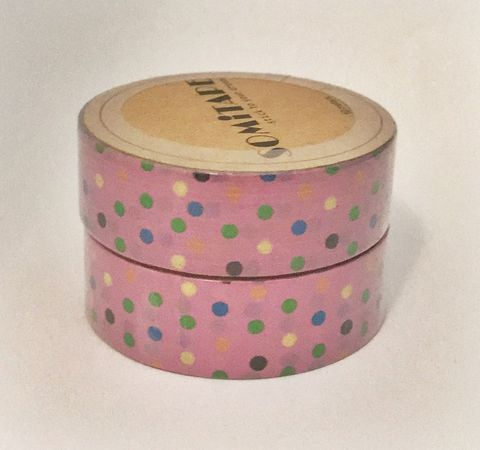 Washi,tape,pink,pois,Washi tape, masking tape