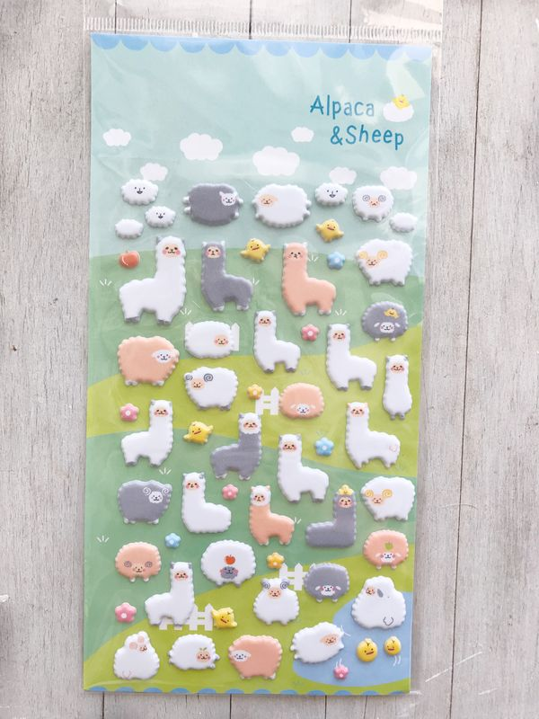Pop up stickers alpaca - product image