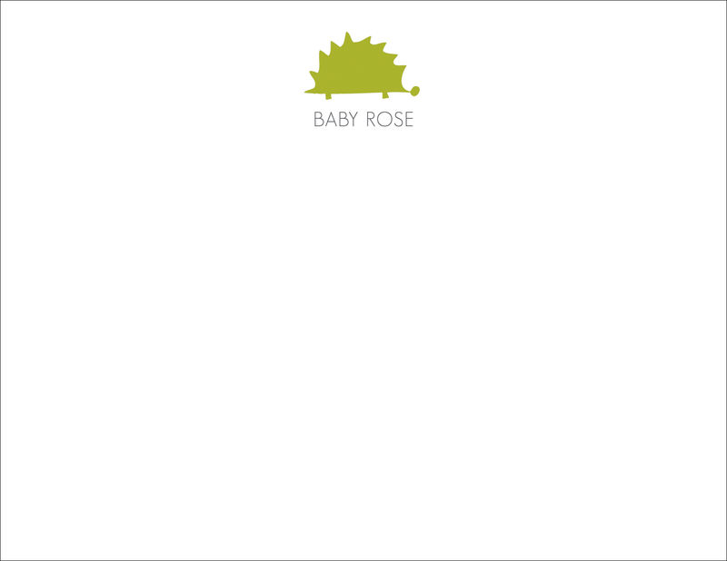 green porcupine stationery - product images