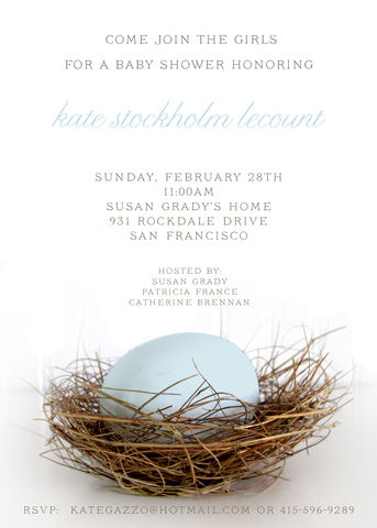egg,in,nest,baby,shower,invitation, boy, girl, egg, nest, shower