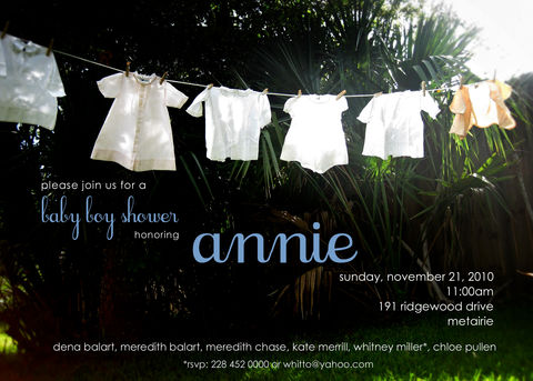 baby,cothesline,shower,invitation, shower, clothesline, dresses