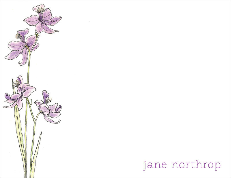 bog orchid stationery - product images