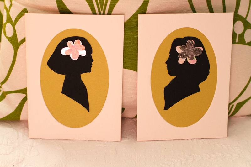 custom, handcut, paper silhouette...with a twist! - product images