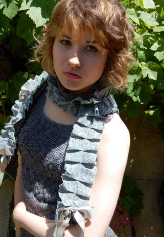 Hand,dyed,ditsy,print,and,knit,scarf,knitted scarf, vintage