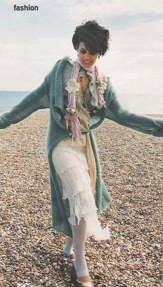 Hand dyed long cardigan coat made to order.. - product images