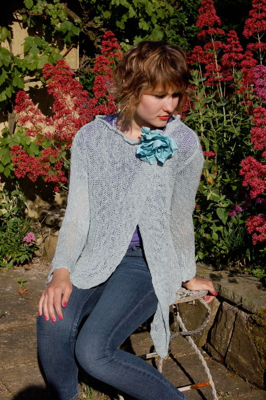 Hand dyed cardigan made to order.. - product image