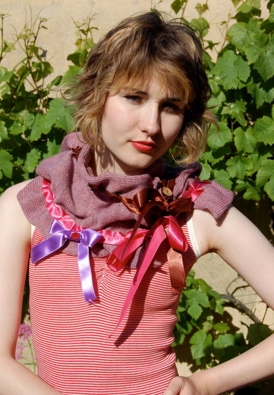 Hand felted ribbon scarf - product image