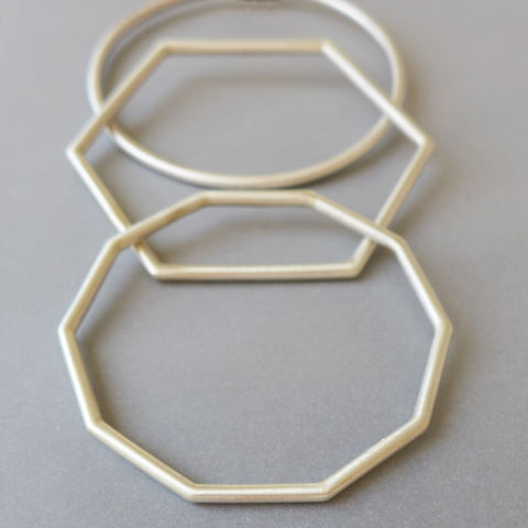 Geo,chunky,bangle,set,decagon, geometric bangle, geometric jewellery, bangle set, hexagon
