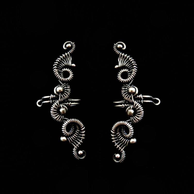 the wire earrings il collection jewelry filomena demarco structural curved
