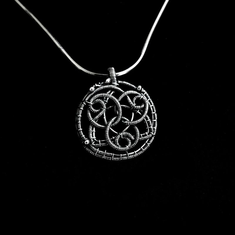 silver amulet celtic protection sterling shop pegan pendant