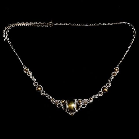 Silver,Brass,Victorian,Necklace,by,Mayahandmade,silver necklace, wire wrapped, victorian necklace, silver brass jewelry, gothic, victorian, handmade, mayahandmade