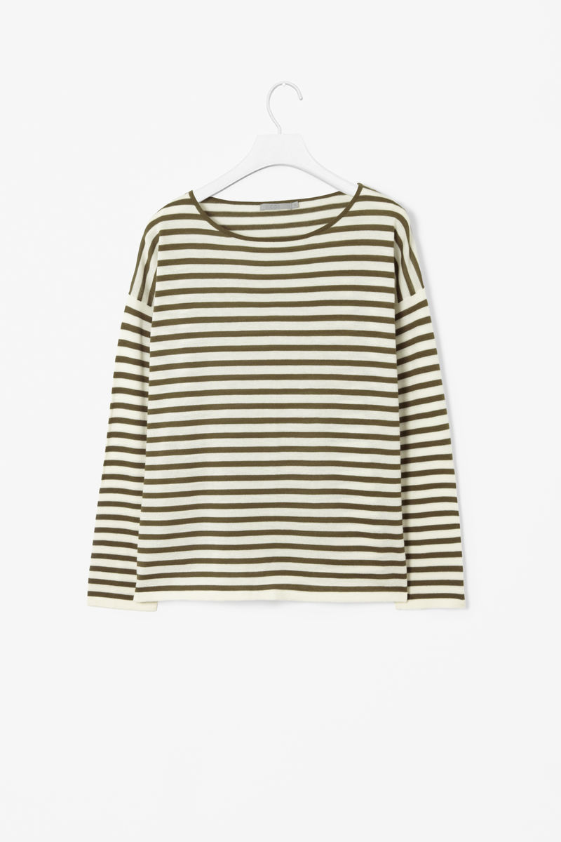 WIDE-CUT STRIPE TOP - product images  of