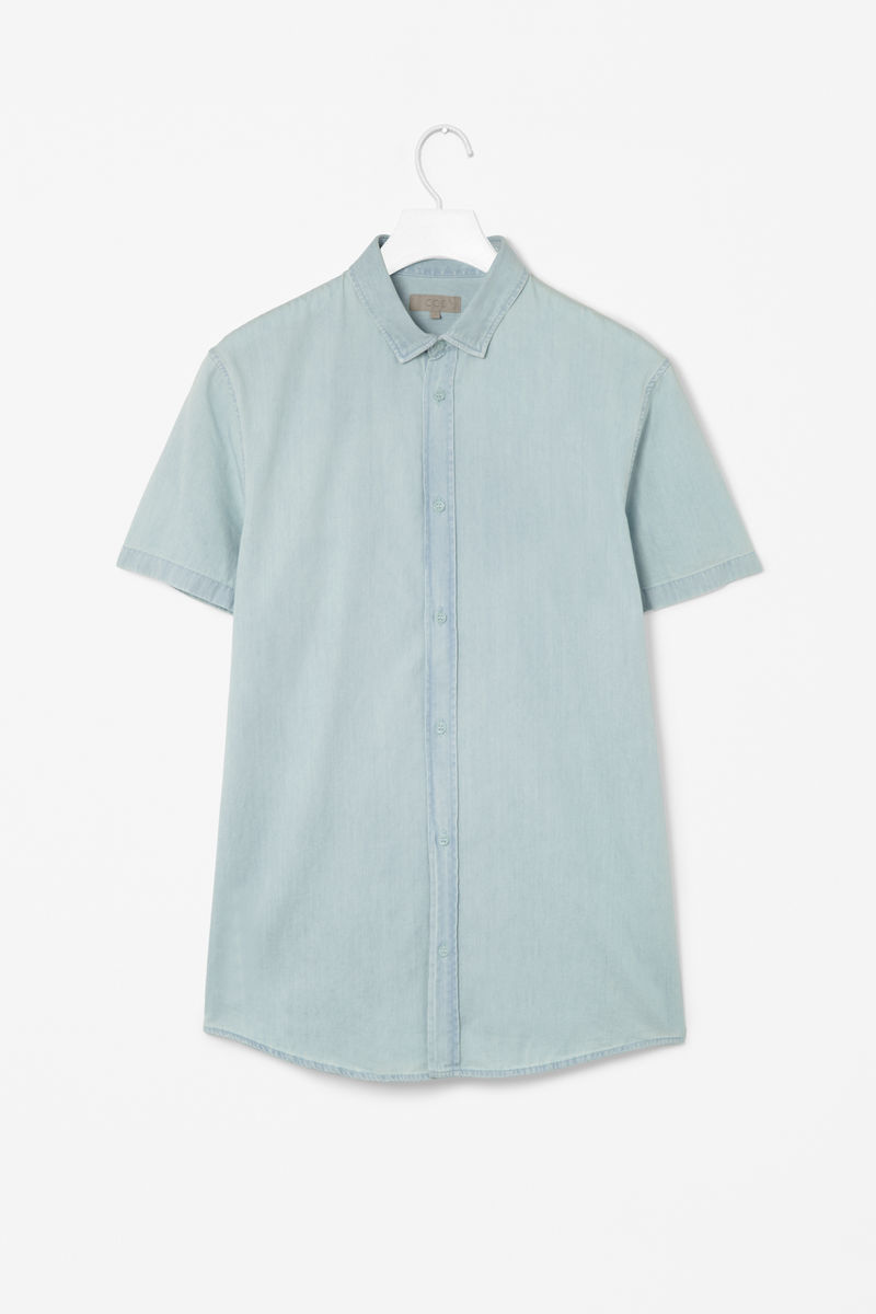WASHED CHAMBRAY SHIRT  - product images  of