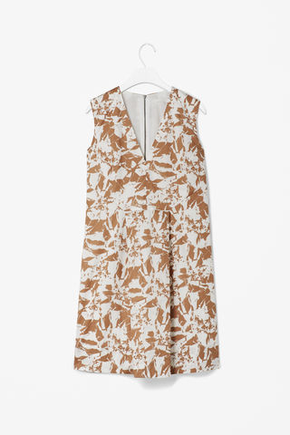 V-NECK,PRINTED,DRESS