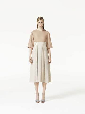 LONG,PLEATED,SKIRT