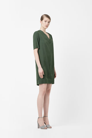 DRAPED,NECK,DRESS