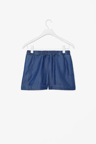 DENIM,WASH,SHORTS