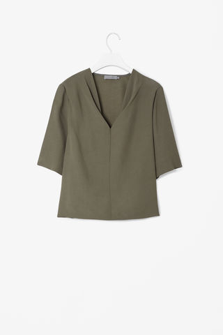 CREPE,V-NECK,TOP