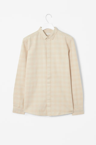 BRUSHED,COTTON,SHIRT