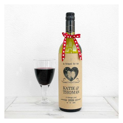 A,Toast,To,Us,Valentines,Wine,Bottle,Card,Bottle Card Accessory, Wine Bottle, Birthday