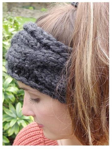 Chunky,Hand,Knit,Headband,Chunky Hand Knitted Headband. Made in Britain.