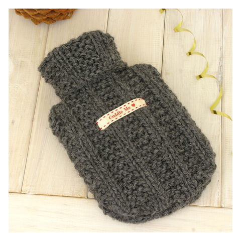 Personalised,Mini,Hot,Water,Bottle,And,Cover,-,Charcoal,Grey,Hot Water Bottle Cover, Hot Water Bottle, Small Hot Water Bottle, Children's Hot Water Bottle, Hot Water Bottle Cover - Charcoal Grey Mini Hot Water Bottle and Cover - Mens Hot Water Bottle - Personalised Hot Water Bottle - Travel