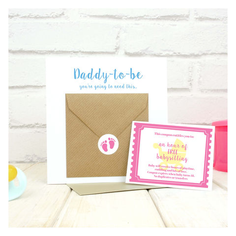 New,Daddy,To,Be,Babysitting,Coupon,Voucher,Card,Baby sitting coupon - coupon card Babysitting Coupon Card - New Daddy Card - Congratulations Card - New Baby Card - New Parents Card - New Arrival Card - Baby Shower Card