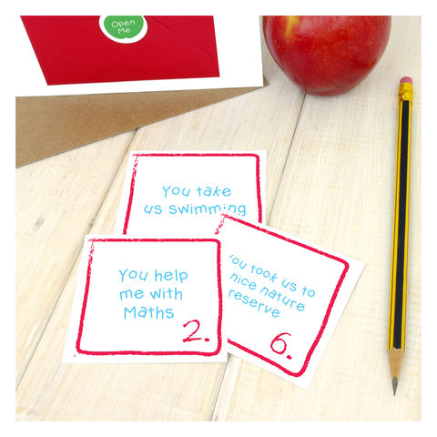 10 Things I Like About My Teacher Personalised Card - product images  of